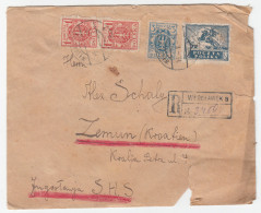 Poland Polska Registered Letter Cover Travelled Wloclawek  To Zemun Croatia SHS 192? D160701 - 1919-1939 Republic