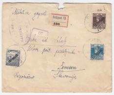 Hungary Censored (Serbia) Registered Letter Cover Travelled Budapest To Zemun SHS 1919 D160701 - Ungheria
