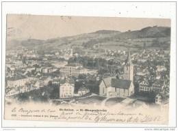 SAINT GALLEN ST MANGENKIRCHE CPA 1903 BON ETAT - SG St. Gall