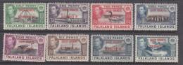 Falkland Islands, South Orkneys Dependency: George VI, 1944, Set 1/2d - 1/= MH * - Falkland