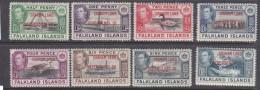 Falkland Islands, Graham Land Dependency: George VI, 1944, Set 1/2d - 1/= MH * - Falkland Islands