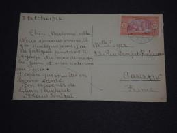 FRANCE / SÉNÉGAL - Oblitération De St Louis En Bleu Sur Carte Postale Pour Paris En 1922 - A Voir - L 638 - Sénégal (1887-1944)