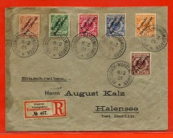 NOUVELLE GUINEE ALLEMANDE LETTRE RECOMMANDEE DE 1901 DE WILHEMSHAFEN POUR BERLIN - Colonie: Nouvelle Guinée