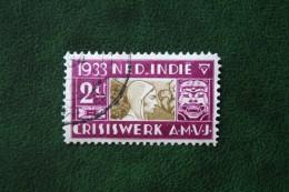 AMVJ  A.M.V.J. 2 Ct NVPH 182 1933 Gestempeld / Used NEDERLAND INDIE / DUTCH INDIES - Niederländisch-Indien