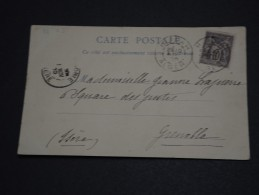 FRANCE - Oblitération D 'Alger Sur Type Sage Sur Carte Postale En 1910 - A Voir - L 641 - Marcophilie (Lettres)