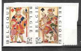 BELGIQUE 1973 , Cartes à Jouer Anciennes / Playing Card ; PAIRE Se Tenant Yvert N° 1689 / 1680 Neuve Sur Fragment, TB - Giochi