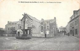 Saint Jacut De La Mer - Les Postes Et Le Calvaire - Saint-Jacut-de-la-Mer