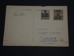 POLOGNE - Timbres Non émis De La Poste Locale De Varsovie Sur Carte Postale ( 1918) - A Voir - L 646 - ....-1919 Provisional Government