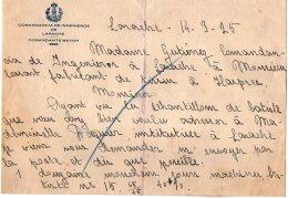 VP5043 - Lettre - Comandancia De Ingenieros De LARACHE - Comandante Mayor - España