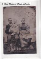 FERROTYPE - UN COUPLE ET SON BEBE - PHOTO - Autres