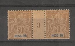 Nossi-Bé_  30 C  Millésimes  -   N°35  (1893 )