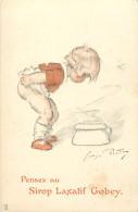 - Themes Divers -ref-M839- Publicite - Sirop Laxatif Gobey - Illustrateur Redon - Illustrateurs - Sante - Enfants - - Publicité