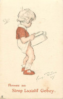 - Themes Divers -ref-M838- Publicite - Sirop Laxatif Gobey - Illustrateur Redon - Illustrateurs - Sante - Enfants - - Publicité