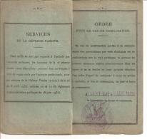 FASCICULE DE MOBILISATION  (BUREAU DE RECRUTEMENT ST LO) BADIN CHARLES  REF 47110 - Documents Historiques