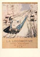 CARTE POSTALE : TRAIN . PLAQUETTE DE PRESENTATION DE LA NOUVELLE LOCOMOTIVE DIESEL ELECTRIQUE 262 BD1 EN 1937 . PLM . - Eisenbahnen