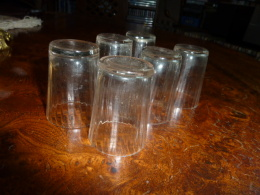 6 Petits Verres Anciens Liqueur - Glasses
