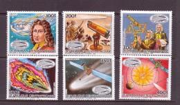CENTRAFRIQUE 1985 COMETE DE HALLEY  YVERT N°714/17-A336/37  NEUF MNH** - Space