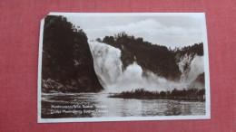 RPPC  > Canada > Quebec> Montmorency Falls   Ref 2266 - Quebec