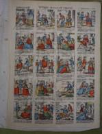 2 Planches D´imagerie Enfantine Fin XIXème - HISTOIRE DE PAUL ET VIRGINIE Et Au Verso GRAND'MERE SAIT TOUT - Stiche & Gravuren