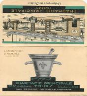 - Themes Divers -ref-M821- Publicite -depliant Enveloppe- Pharmacie Principale Metadier - Tours - Indre Et Loire - Sante - Publicité