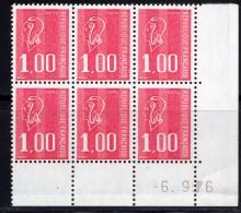 France 1976.coins Datés Marianne De Béquet** - 1970-1979