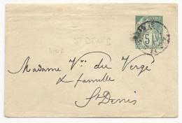 LA REUNION - ENVELOPPE ENTIER TYPE ALPHEE LOCALE De ST DENIS Pour ST DENIS - Réunion (1852-1975)