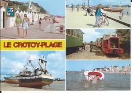 CPM - 80 - LE CROTOY- PLAGE - Multivues  - Train -  Chemin De Planches - TBE - - Le Crotoy