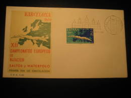 Barcelona 1970 XII Europe Championships Water Polo Water-polo Waterpolo Swimming Dive Fdc Cover Spain