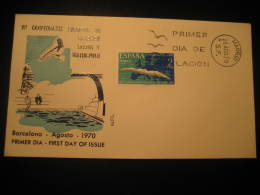 Madrid 1970 XII Europe Championships Water Polo Water-polo Waterpolo Swimming Dive Barcelona Fdc Cover Spain