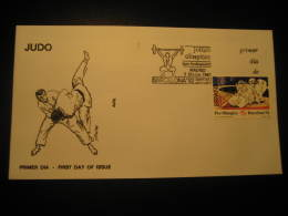 Madrid 1990 Judo Martial Arts Barcelona 1992 Olympic Games Olympics Weightlifting Cancel Fdc Cover Spain - Judo