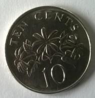 Monnaie - Singapour - 10 Cents 1986 - Superbe - - Singapour