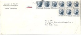 Enveloppes   Expédiées  Des   ETATS - UNIS   à  Destination  De  MONACO  Et  De  TARBES  ( 65 ) Par Avion  $ - Amérique Centrale