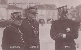 Bc - Cpa CASTELNAU, JOFFRE, PAU - Trois Grands Chefs De Nos Armées - Personen