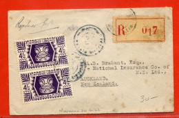 WALLIS ET FUTUNA LETTRE RECOMMANDEE DE 1947 POUR AUCKLAND NZ - Other