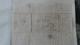 Lettre Taxe 10 De Montpellier Pour St Malo 1834 Cachet 12 Taxe 1d Rouge - Non Classés