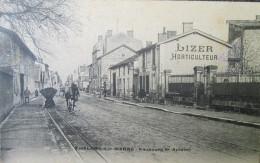 """51 CHALON Sur MARNE """"Faubourg St Antoine"""" Curieux Attelage Sur Rail LIZER Horticulture 1907 - Châlons-sur-Marne"""