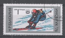 Bulgaria 1976, Scott #2293 Winter Olympic Games Innsbruck: Downhill Skiing (U) - Bulgarie