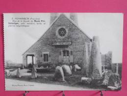 29 - Penmarch - Façade Du Musée Préhistorique Avec Menhirs Lechs Et Pierres Mégalithiques - Scans Recto-verso - Penmarch