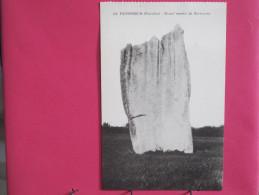 CPA Très Peu Courante - 29 - Penmarch - Grand Menhir De Kerscaven - Scans Recto-verso - Penmarch