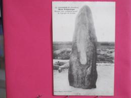 CPA Très Peu Courante - 29 - Penmarch - Menhir Avec Poignard Gravé De L'époque Du Bronze - Scans Recto-verso - Penmarch