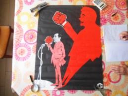 CDR  ELECTIONS PRESIDENTIELLES 1974 MITERRAND ET LA ROSE 77cm/58cm - Affiches
