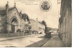 33 Castillon Sur Dordogne Le Temple Protestant Et L'avenue De La Gare - France