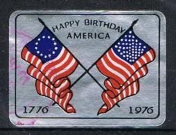Viñeta, Label Cinderella UNITED STATES, Flags 1976. Bicentanari - Variedades, Errores & Curiosidades