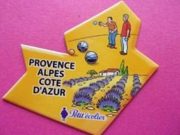 Magnet Petit écolier Pétanque Boule Provence Alpes Côte D'Azur Lavande - Sports
