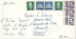 Enveloppe - Expédiée  Des  ETATS - UNIS   à  Destination  De     PAU   ( 64 )   P. Avion    $ - Amérique Centrale