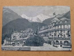 TERMINUS Hotel Bahnhof & Pension BRISTOL Interlaken - Anno 1912 ( Zie Foto Voor Details ) !! - BE Berne