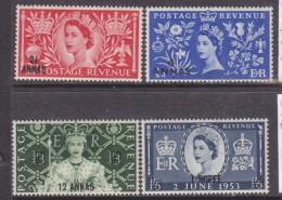 British Postal Agencies In Eastern Arabia, Elizabeth II, Coronation Of G.B.set,  Surcharged, MH * - Great Britain (former Colonies & Protectorates)