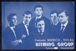 Viladecans *Ritming Group. Conjunto Músico-Vocal* Meds: 110 X 168 Mms. - Documentos Antiguos