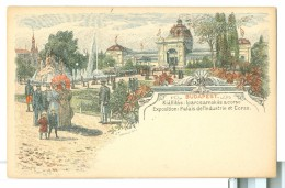 1890/1900s Budapest Exposition Palais De L'Industrie Postal Stationery Card Unused - Exhibitions