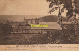 CPA  LES RUINES DE L'ABBAYE D'AULNE PANORAMA DES RUINES - Thuin
